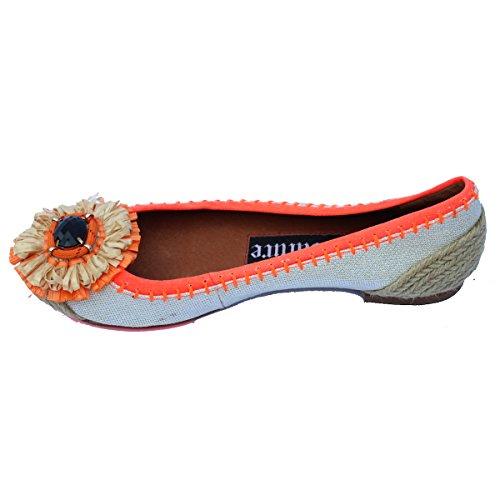 Soporte Ballerinas Couture Juicy Orange Unido Uv de Tejido Estilo 3 para tamaño Reino mujer 5 gnqga4tW