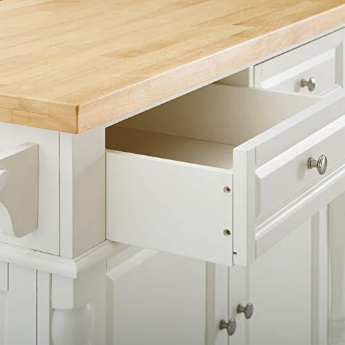 Crosley Furniture Kitchen Island with Butcher Block Top - White by Crosley Furniture (Image #8)