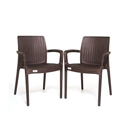 Varmora Designer Chair Set of 2 (Esquire – Brown)