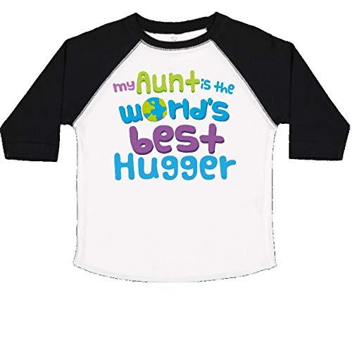 inktastic - My Aunt Best Hugger Toddler T-Shirt 4T White and Black (Hugger White T-shirt)