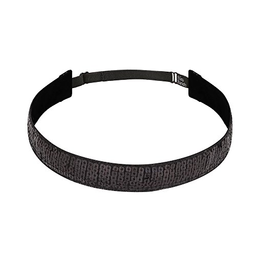 Bani Bands Women's Sequin Adjustable Headband with Non-Slip Lining, Black
