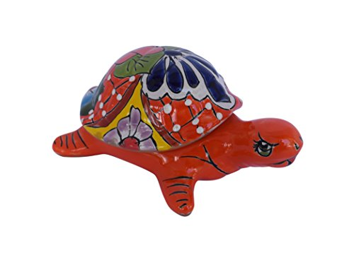 Turtle Jewelry box Ceramic Decor Talavera Home Kitchen Patio Garden Pottery Animal (Pottery Turtle)