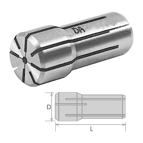HHIP 3900-4833 DA-180 Series Double Angle Collet, 1.035'' Diameter x 1.62'' Length, 25/64''