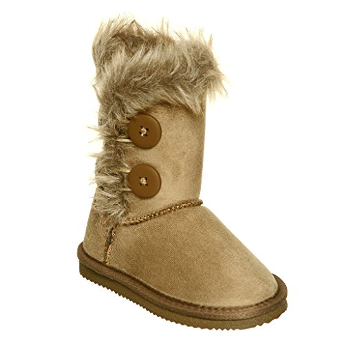 Fur Lined Mid-cuff Snow Boots for GIRLS ( 2, Chestnut )