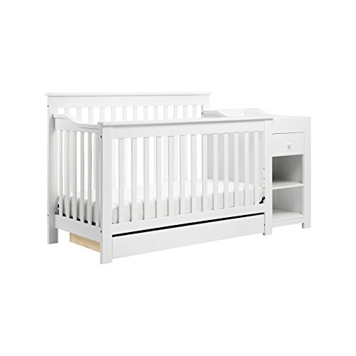 DaVinci Piedmont 4-in-1 Crib & Changer Combo,  White