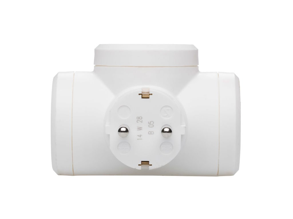 enchufe en color blanco Triple Gris /& 050662 Adaptadores potencia m/áxima de este ladron es de 3680 W 10//16 A a 230 Voltios Legrand 50664 Adaptador Enchufe Adaptador triple con entrada lateral