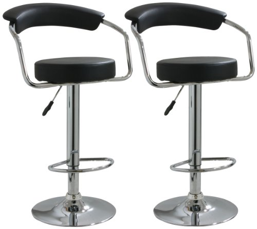 Diner Style Bar Stool (AmeriHome BS1060BSET Adjustable Height Bar Stool- Set of 2)