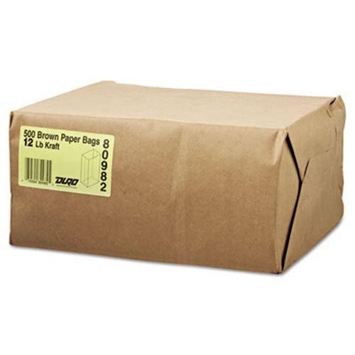 Duro 18412 SOS Bag 40# 100% Recycled Natural Kraft, 500 Piece