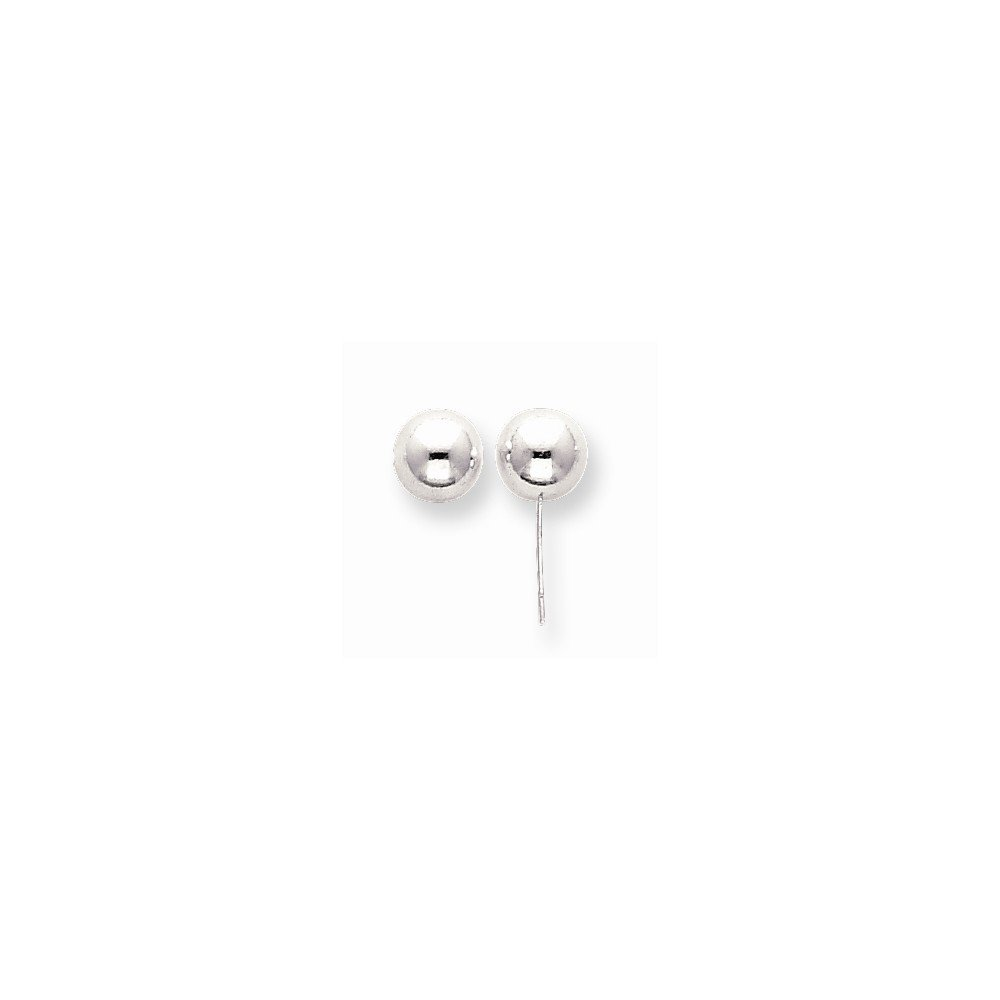 Sterling Silver Polished 8.0mm Ball Earring