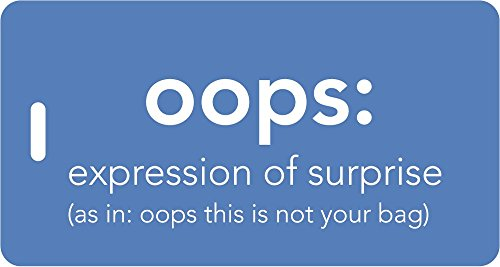 - Luggage Tag - oops: expression of surprise