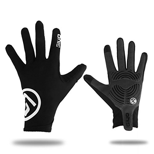 Freebily Flexible Comfortable Breathable Unisex Touch Screen Full Long Fingers Anti-Slip Gel Cycling Outdoor Sports Gloves Black XX-Large