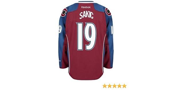 20c41ca6d8e ... Amazon.com Colorado Avalanche VINTAGE Joe SAKIC 19 C Official Home  Reebok NHL Hockey Jersey ...