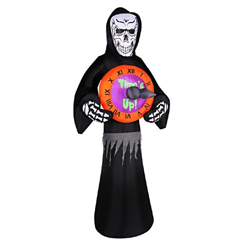 Halloween Inflatable 8' Animated Reaper with Spinning