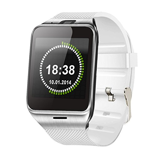 Unlocked Watch - TechComm GV18 Bluetooth and GSM Unlocked Smart Watch 1.3 MP Camera