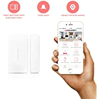 MESMART Smart Door Window Sensor Monitor Break & Vibration Detector Anti-theft Wireless Magnetic Induction Abnormal Alarm Safety Reminding ZigBee Home Security System WIFI Gift White