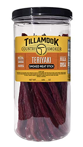 Tillamook Country Smoker Teriyaki Stick 1lb Jar (20 ct)