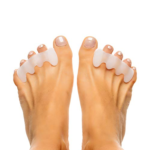 Original Ease Relief Gel Toe Correctors & Toe Spacers (2 Pair) - Correct Toes Naturally With Toe Separators For Men and Women - Great Choice For Fighting Bunions, Overlapping Toes, and More