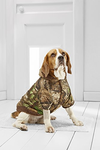 Medium Dog Camo Parka For Beagle Sheltie Cocker Spaniel Border Collie Whippet (Small Medium Size, brown, green)
