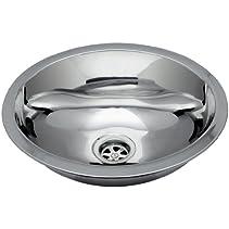 Ambassador Marine Oval Stainless Steel Round Bottom Brushed Finish Sink