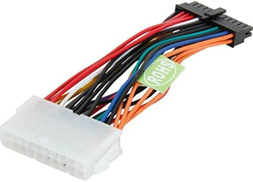 Standard ATX 20-Pin to Mini 24-Pin Power Converter Adapter for HP Systems AYA 6 6 inch
