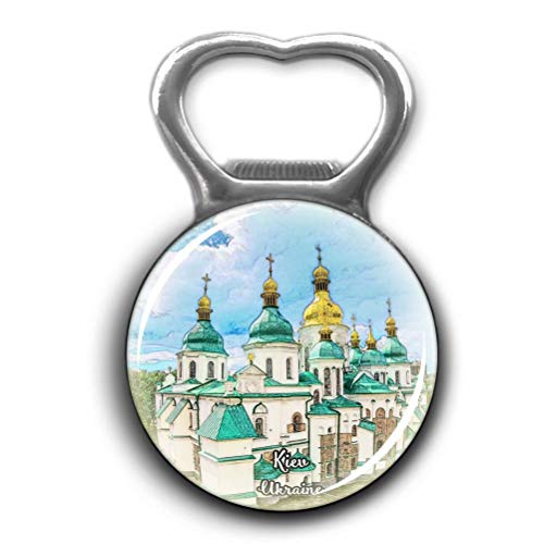 St. Sophia Cathedral Kiev Ukraine Opener Metal Fridge Magnet Crystal Glass Round Beer Bottle Opener City Souvenir Home Kitchen Decoration Gifts