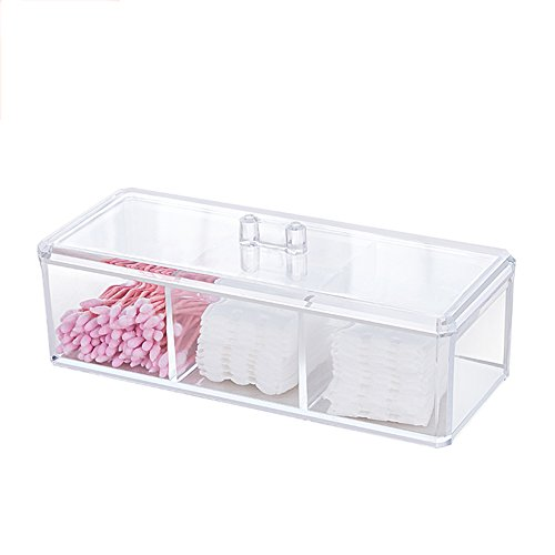 Ball Compact Glass - Choice Fun Acrylic Multifunctional Divided Organizer Storage Tray with Lid Transparent
