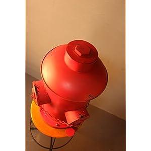 TOPOWER DIY INDUSTRIAL vintage CREATIVE TRASH CAN IN HOME RECyYCLING BINS OUTDOOR WASTE BINS (S:27×29×43cm)