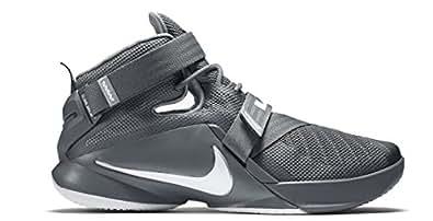 Nike Mens LeBron Soldier IX Basketball Shoes (Grey/Grey, 12)