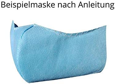 DIY 4 St/ück AMF Life 3-lagiges Feinfaser-Vlies 40 Stoffmasken 0,8x1m Material f/ür ca 40g//m/² MedicalBlau