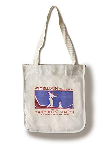 Lantern Press Wimbledon (Artist: Black) England c. 1925 - Vintage Advertisement (100% Cotton Tote Bag - Reusable)