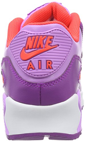 Nike Mädchen Air Max 90 LTR (GS) Low-Top Pink (Fuchasia Glow/White-Vivid Purple)