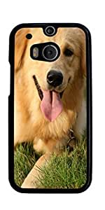 Golden Retriever Dog Hard Case for HTC ONE M8 ( Sugar Skull ) by ruishername