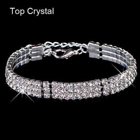 7 Hot explosion models Starry fashion flash diamond geometric square bangle bracelet charm bracelet bride