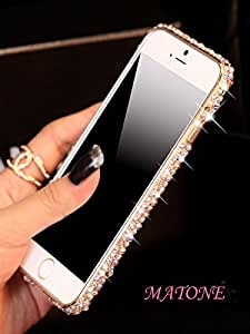 iPhone 6 Case The Latest Diamond Ultra-Thin Metal Rrc Frame Protection Case For iPhone Plus (Champagne, iPhone 6 Plus 5.5 Inch)