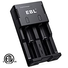 EBL IntelliCharger with iQuick Technology Individual Battery Charger Fast Charging for AA AAA C 18650 16340 14500 26650 26650 Li-ion Ni-MH Ni-CD Rechargeable Batteries