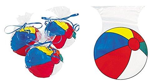 36 pc -Beachball Pool Party Supplies Cellophane Beach Ball Bags