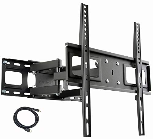 "VideoSecu MW340B2 TV Wall Mount Bracket for Most 27-65 Inch LED, LCD, OLED and Plasma Flat Screen TV, with Full Motion Tilt Swivel Articulating Dual Arms 14"" Extend, up to VESA 400x400mm,100 LBS WR9"
