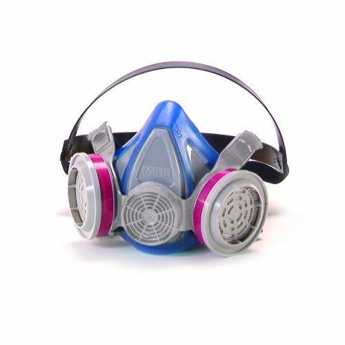 MSA Safety Works 817664 Toxic Dust Respirator (Medium + 2 Refills)