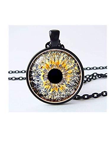 because meet you Eye Necklace, Eyeball Pendant, Eyeball Necklace,Gray Eye Eyeball Jewelry Eye Jewellery, Eye Eye Pendant Human Eyeball