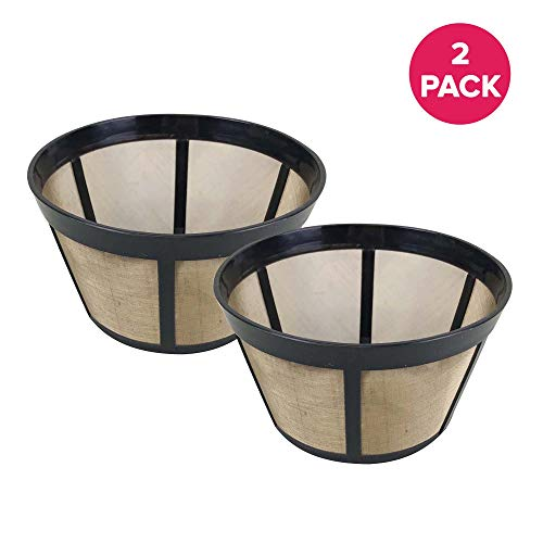 - Think Crucial Gold-Tone Basket Coffee Filters Replacement - Compatible with Bunn Coffee Makers (18 Ounces) C60666 Parts - Washable & Reusable (2 Pack)