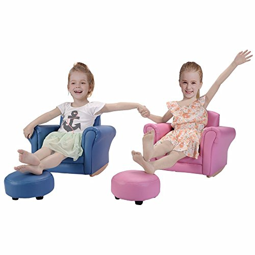 Pink Kids Sofa Armrest Chair Couch Childrens Living Room Toddler Birthday Gift by Unknown