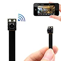 PNZEO VI Mini Camera 1080P HD wireless WiFi surveillance camera for iPhone / Android phone / iPad / PC Remote view Motion detecting (Supports 128GB Micro SD Card)
