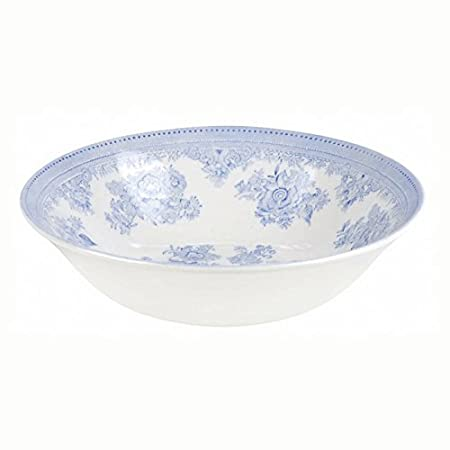 Burleigh Dark Blue Calico Cereal or Dessert Bowl 16 cm