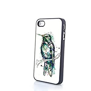 Generic PC Phone Cases Colorful Cartoon 3D Bird Matte Pattern fit for Vivid Cute iPhone 4/4S Cases