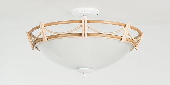 Lámpara de techo cesta lámpara ratán natural de colores ...