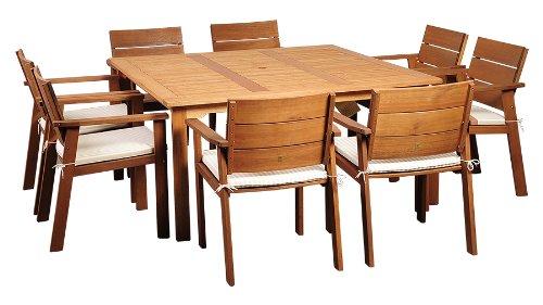 (Amazonia 9-Piece Nelson Eucalyptus Square Dining Set )
