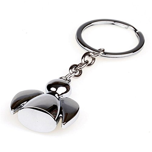 Colorido Fashion Lovely Wing Angel Doll Pendant Key Ring Holder - Pendant Bail Polished