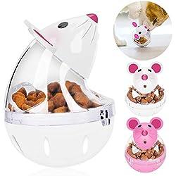 Legendog Cat Food Ball Slow Feed Mice Tumbler Shaped Pet Treat Ball Cat Food Toy