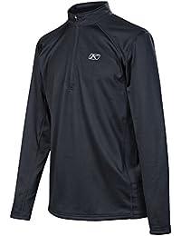 Defender 1/4 Zip Base Layer Top Long-Sleeve Shirt Men's Undergarment Off-Road/Dirt Bike Body Armor - Black