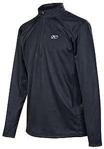 Klim Defender 1/4 Zip Base Layer Top Long-Sleeve Shirt Men's Undergarment Off-Road/Dirt Bike Body Armor - Black / Small